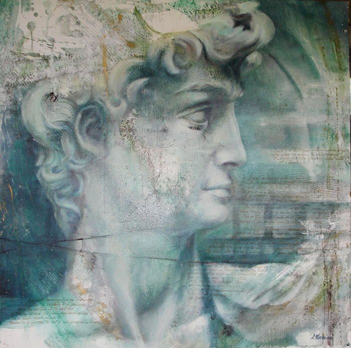 DAVID - Oil on canvas - Simona Marziani